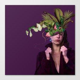 Lady Flowers lllll - Clara. Canvas Print