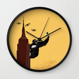 King Kong Love Selfie Wall Clock