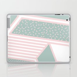 Modern Memphis Illustration - Gemetrical  Retro Art in Pink and Mint -  Mix & Match With Simplicity Laptop & iPad Skin