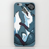 fierce iPhone & iPod Skins featuring Fierce by Carlos Anguis