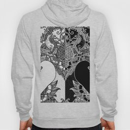 Unity of Halves - Life Tree - Rebirth - White Black Hoody