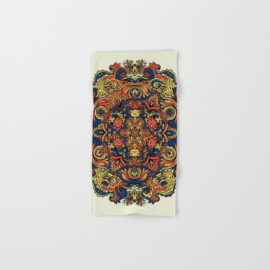 Orange Indian Mandala Hand & Bath Towel