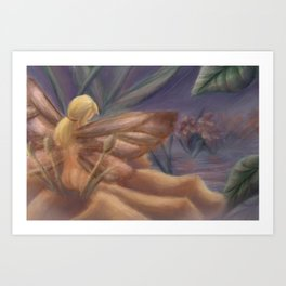 Fairy with Butterfly Wings Art Print