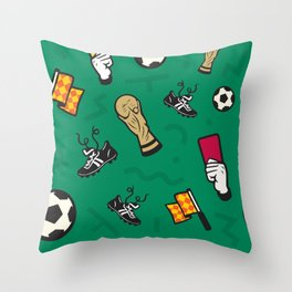 Soccer Summer '18 Throw Pillow