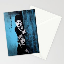 KINO - Chaplin and the kid Stationery Cards