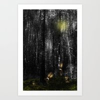 rabbits Art Prints featuring Rabbits by Digital-Art