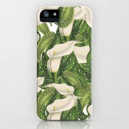 Calla lily flower pattern iPhone Case