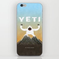 yeti iPhone & iPod Skins featuring Yeti by Artificial primate