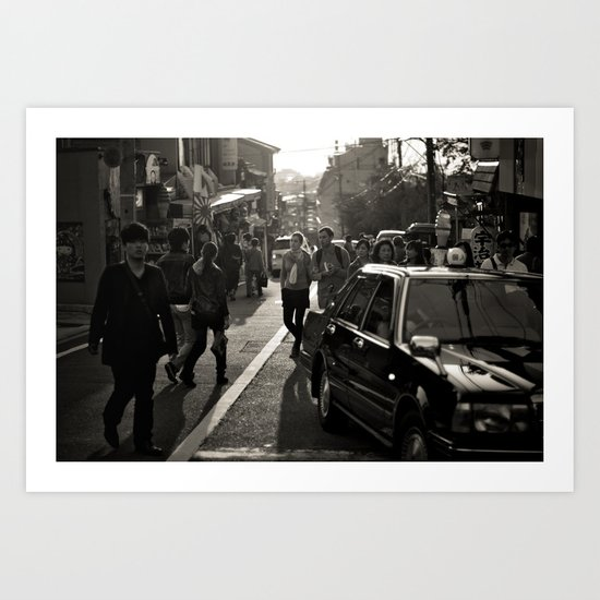 Streets of Kiyomizu Temple, Kyoto Art Print