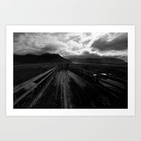 iceland Art Prints featuring Iceland by Adam-Hindmarch