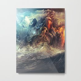 God's War (Kronos art) II Metal Print