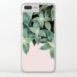 #leaf #wall #pink Clear iPhone Case