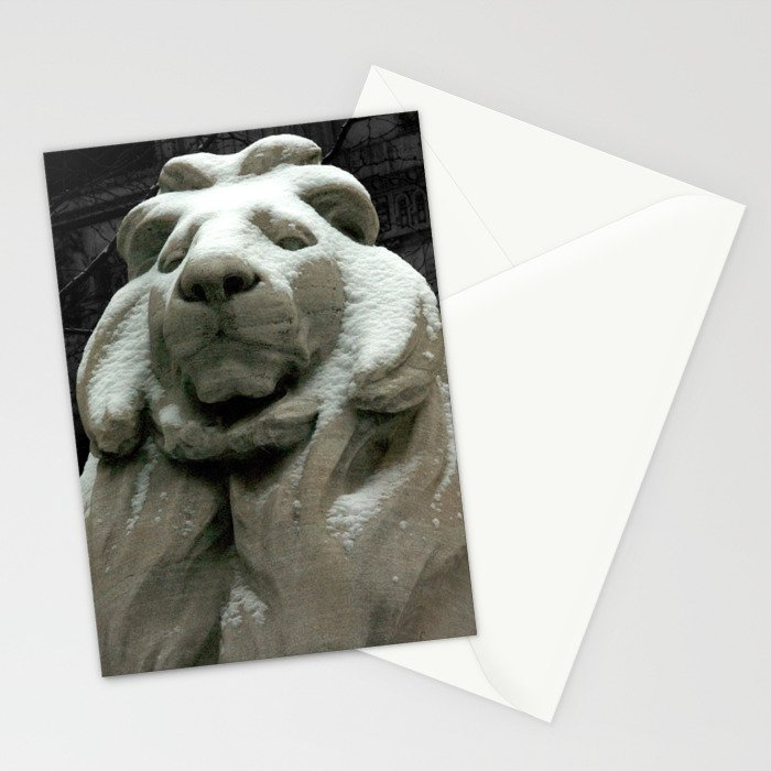 Patience In The Snow Stationery Cards