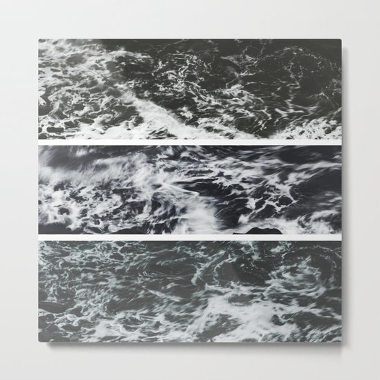 Saltwater Trytych Var II - blacks Metal Print