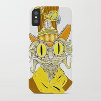 steam punk iPhone & iPod Cases featuring Steam Punk Cat by J&C Creations