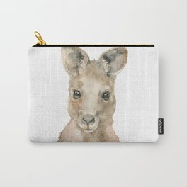 Kangaroo Face Watercolor Carry-All Pouch