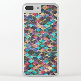 Colorful Geometric Pattern #08 Clear iPhone Case