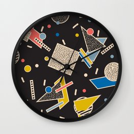 Memphis Inspired Design 8 Wall Clock