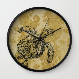 Yellow Turtle Wall Clock