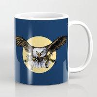 eagle Mugs featuring Eagle by Anna Shell