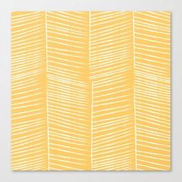 Herringbone - Marigold Canvas Print