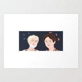 Brrrr friends - MINO PO Art Print