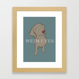Weim 005 Framed Art Print