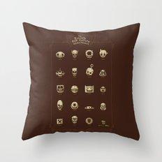 The Exquisite Pop Culture Skulls Museum Throw Pillow