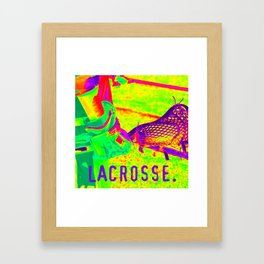 LACROSSE PLAYER Framed Art Print