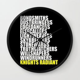 knights radiant Wall Clock
