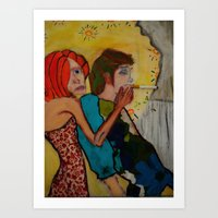 cigarette Art Prints featuring cigarette by Samantha Sager