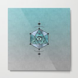 Sacred Geometry Eye Of Protection Metal Print