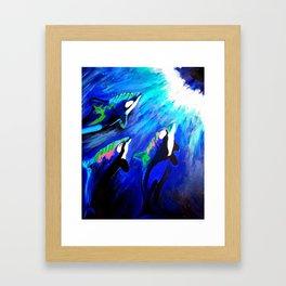 Family of Orcas Framed Art Print