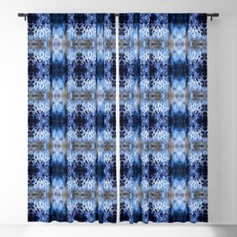 snowflake in blue 8 pattern Blackout Curtain
