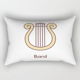 Cute Dungeons and Dragons Bard class Rectangular Pillow