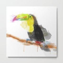 Watercolor Toucan Metal Print