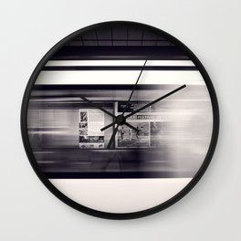 metro long exposure Wall Clock