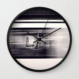 metro long exposure Wall Clock