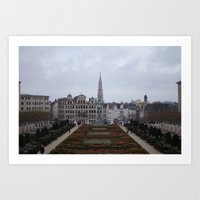 brussels Art Prints featuring Brussels by Michael Cunningham