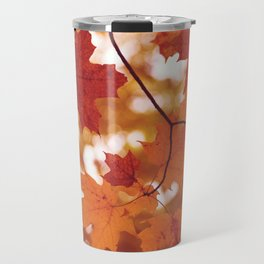 Fluttering from the Autumn tree Travel Mug