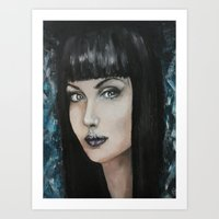 goth Art Prints featuring Goth by Giulia Lauren