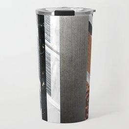 Abstract Metallic Geometry Collage Travel Mug