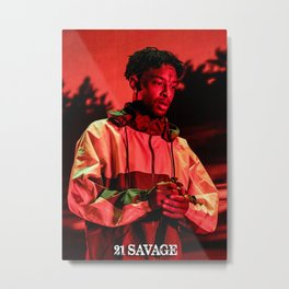 21 Savage poster Metal Print