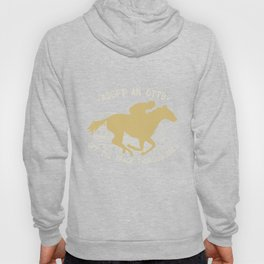 Adopt an Off the Track Thoroughbred Racehorse OTTB T-shirt Hoody