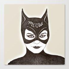 cat woman Canvas Print
