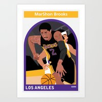 lakers Art Prints featuring Marshon Brooks by Everyplayerintheleague