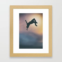 Catching Air Framed Art Print