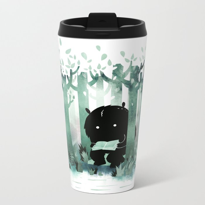 A Quiet Spot (in green) Metal Travel Mug