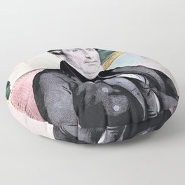 12,000pixel-500dpi - Nathaniel Currier - Theodore Frelinghuysen - Smithsonian - Digital Remastered Floor Pillow