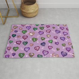 Lovely and Cute A lilac Rug